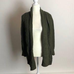 Loft hunter green shawl cardigan